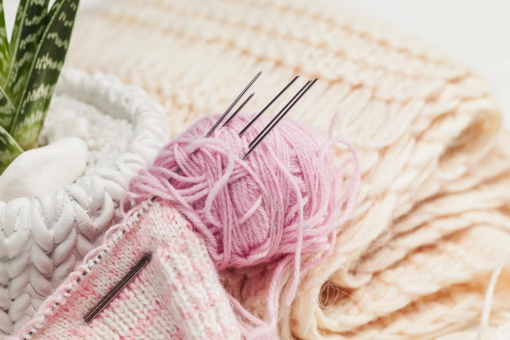 boutique de laines à tricoter